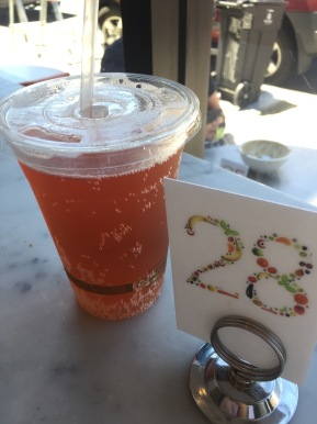 Did I mention this was on tap? Superberry kombucha from Nourish Cafe.