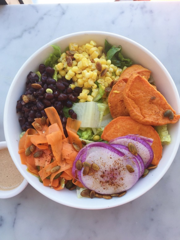 Those yams tho. Mission salad from Nourish Cafe.