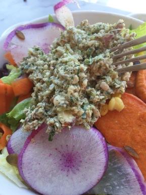 Nourish Cafe's vegan 'tuna.'